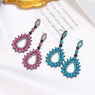 New Trendy Diamond Drop Drop Earrings Fashion Retro Bohemian Earrings NHKQ204464's discount tags