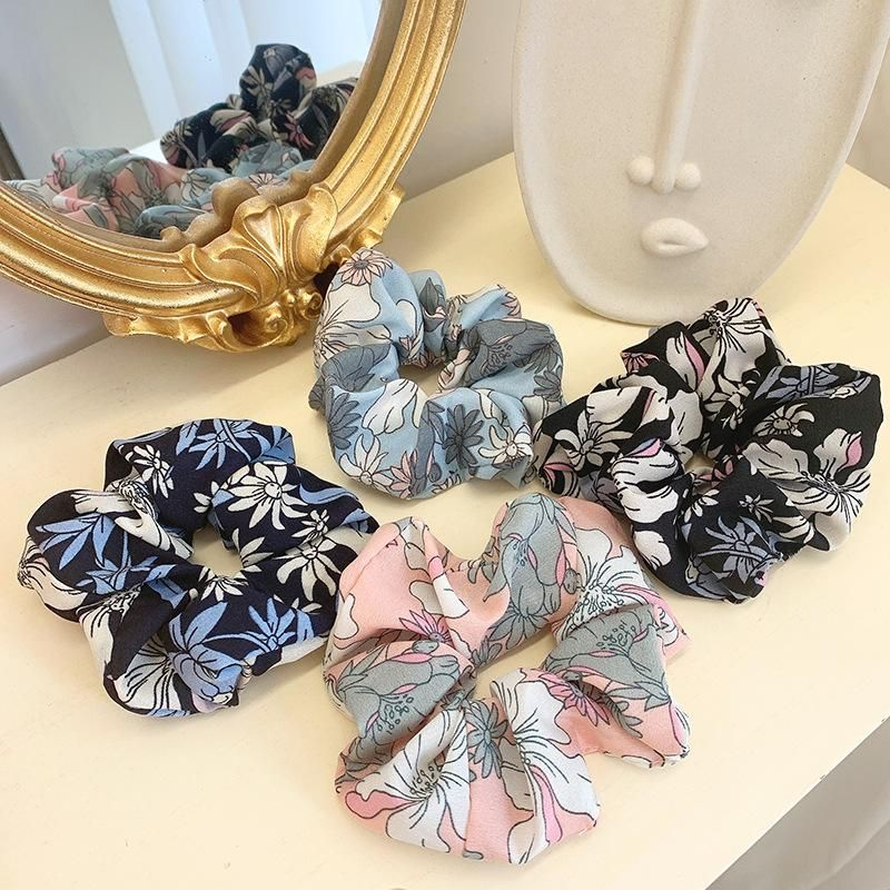 Korean new style floral fabric chiffon cheap hair accessories wholesale NHOF204473
