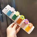 Contrast color flower hair clip cute knitted flowers bangs clip BB clip hair clip edge hair accessories women NHSA204487