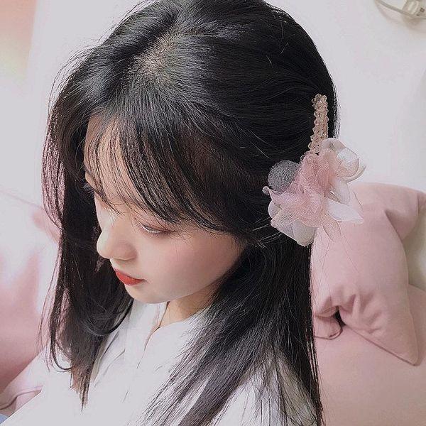 New crystal mesh fresh parent-child wild BB clip cheap hair clip wholesale NHHI204500
