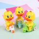 Push Press Little Yellow Duck Cartoon Flyback Motorcycle Pull Back Car Children Toys Wholesale NHAT204508