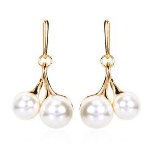 Explosion-like pearl cherry earrings Korean pearl pendant NHCT204515's discount tags