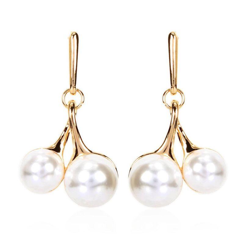 Explosion-like pearl cherry earrings Korean pearl pendant NHCT204515