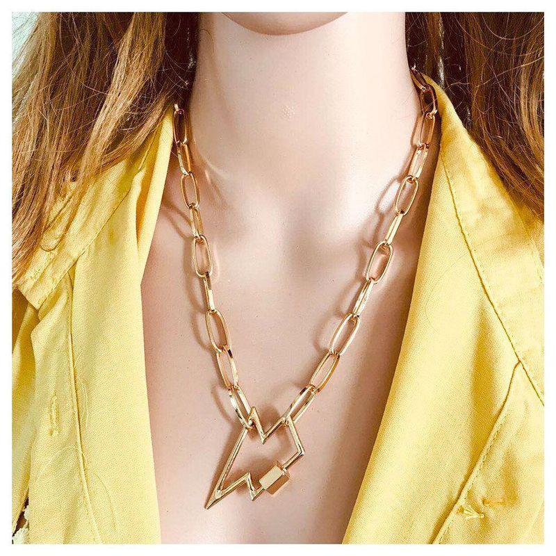 New Fashion Lightning Pentagram Pendant Necklace Wholesale NHCT204518