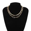 New fashion wild geometric short paragraph decoration female simple double snake bone cross chain necklace wholesale NHXR204532