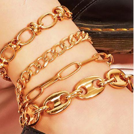 Nouvelle mode plage métal élément géométrique pied ornement mix and match chaîne cheville femmes NHXR204545's discount tags