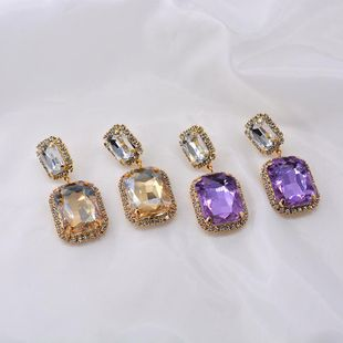 Super simple rhinestone earrings for women NHNT204567's discount tags