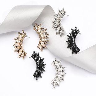 Women's diamond earrings with diamonds and rhinestones wholesales yiwu  NHJE204590's discount tags