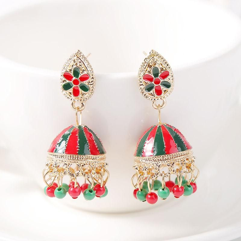New color drip oil geometric vintage earrings metal jewelry NHLA204609