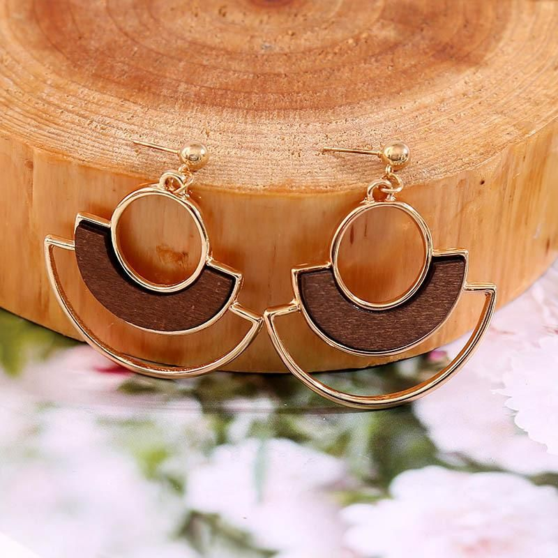 New alloy creative earrings for women geometric jewelry NHLA204615