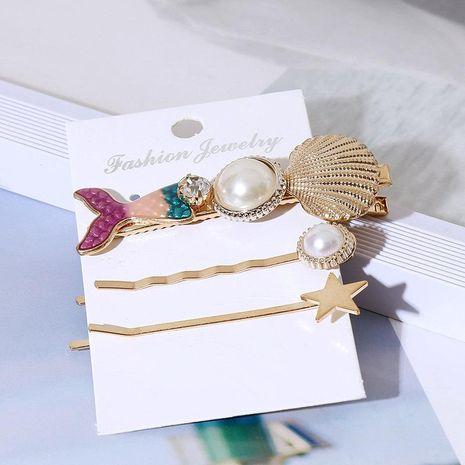 Mermaid Acrylic Hair Clip Set Women's Korean Shell Resin Word Clip Hair Accessories NHLA204639's discount tags