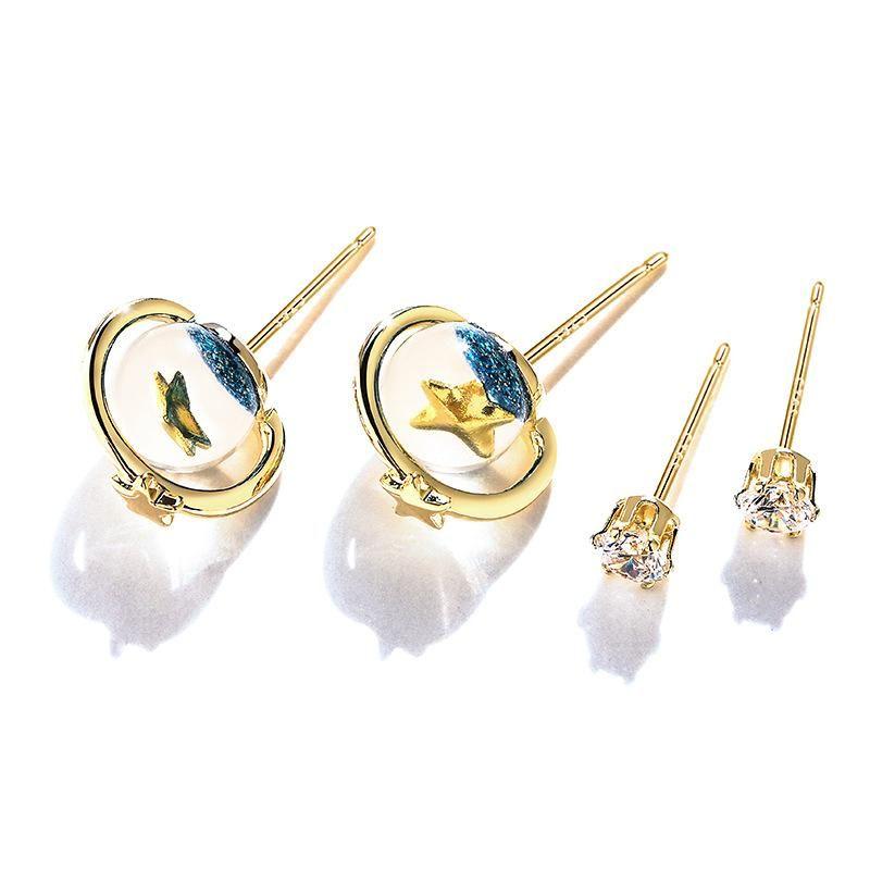 2-piece earrings simple earrings wholesales yiwu  NHPP204647