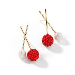 925 Silver Stud Earrings Simple Earrings Imitation Pearl Elegant Earrings NHPP204649's discount tags