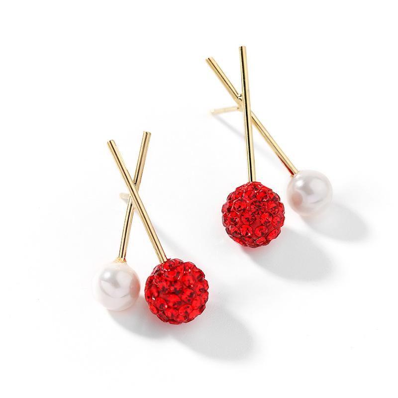 925 Silver Stud Earrings Simple Earrings Imitation Pearl Elegant Earrings NHPP204649