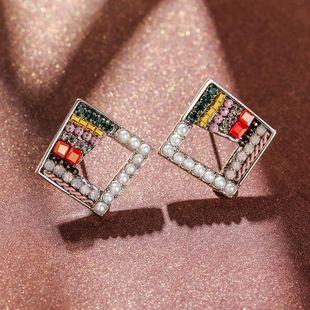925 Silver Pin Diamond Simple Earrings New Imitation Pearl Earrings NHPP204650's discount tags