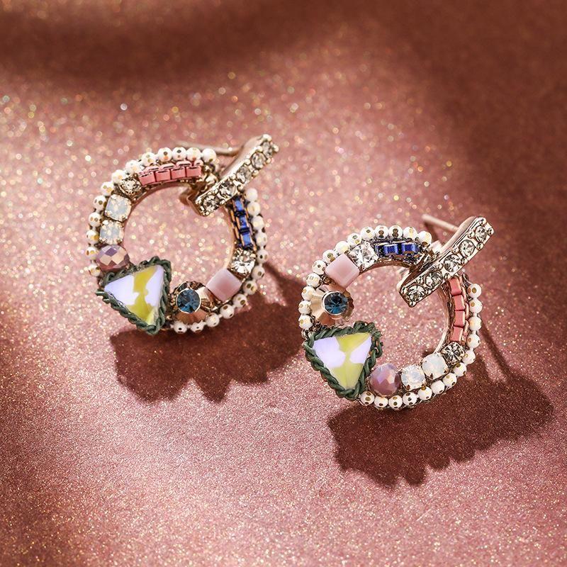 925 Silver Needle Geometric Simple Earrings Vintage Earrings NHPP204651
