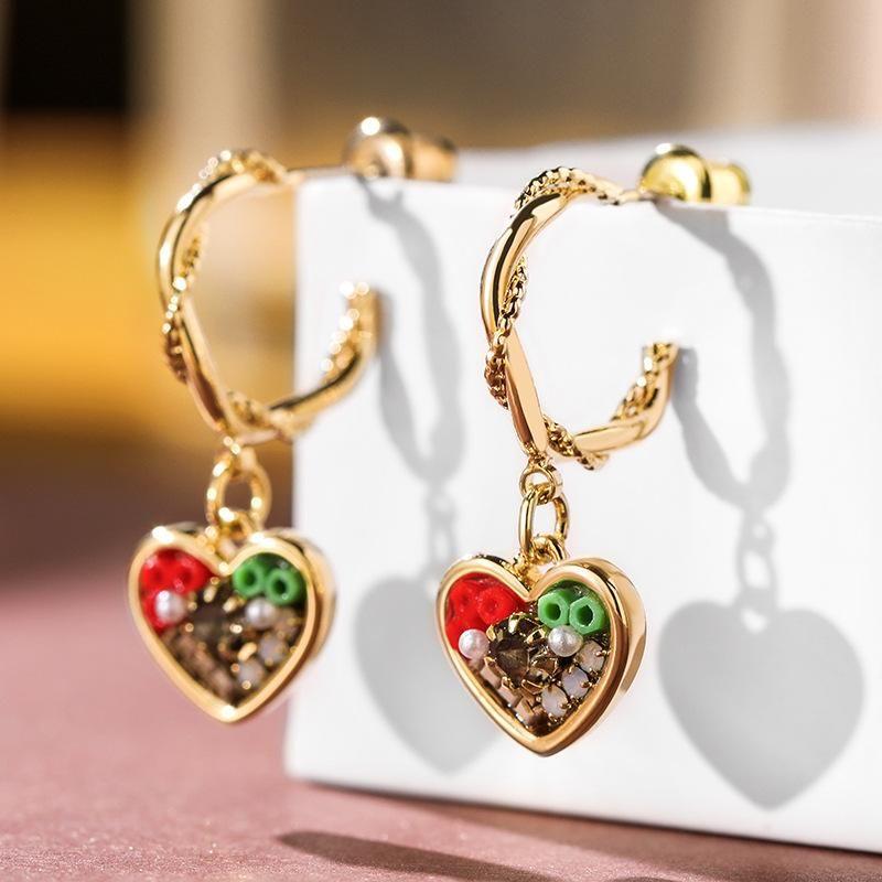 925 silver pin sweet love simple earrings retro cute earrings sexy earrings NHPP204655