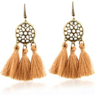 New Fashion Disc Mesh Tassel Earrings for women wholesale NHPV204687's discount tags