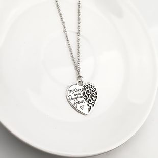 New fashion mother & daughter eternal love pendant alloy necklace wholesale NHPV204694's discount tags
