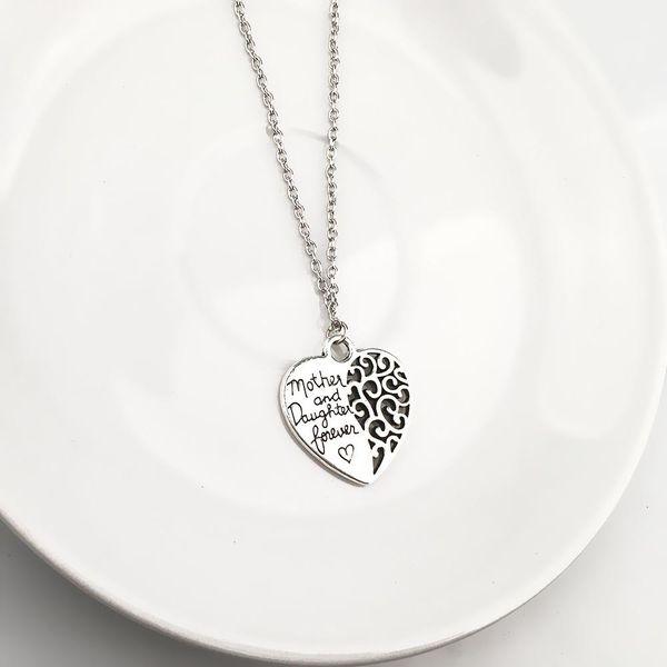 Nueva moda madre e hija amor eterno colgante collar de aleación al por mayor NHPV204694