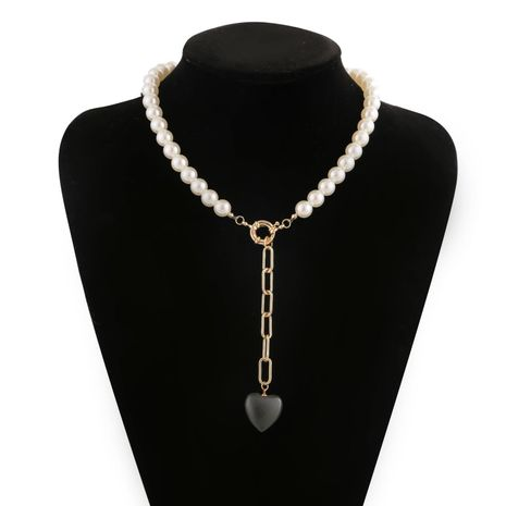 New Fashion Pearl Chain Pendant Bracelet Necklace Set Wholesale NHJJ204711's discount tags