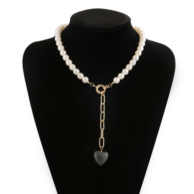 New Fashion Pearl Chain Pendant Bracelet Necklace Set Wholesale NHJJ204711