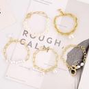 Fait  la main naturel perle baroque petit bracelet de perles plaqu or simple rtro significatif temprament bijoux  la main femme sauvage NHJJ204713