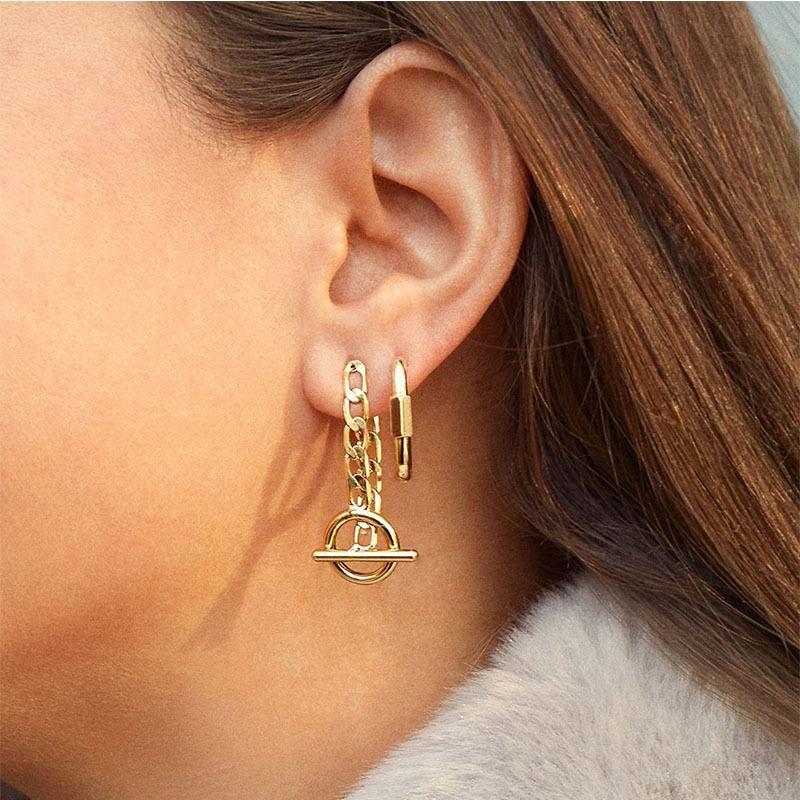 Earrings new fashion chain ear jewelry wholesales yiwu supliers china NHJQ204715