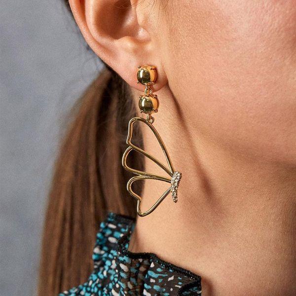 Butterfly simple diamond jewelry earrings wholesales yiwu NHJQ204717