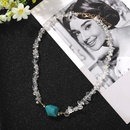 New Fashion Irregular Transparent Pearl Greenstone Beaded Necklace Women Wholesale NHJQ204724