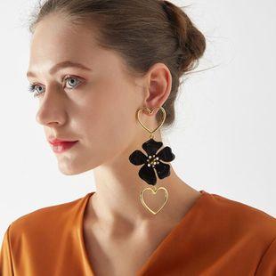 Earrings new bohemian earrings fashion punk style flower earrings women NHOT205017's discount tags