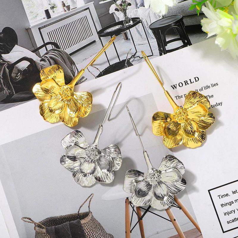 New half flower long fashion ear jewelry women wholesales fahsion NHJQ204719