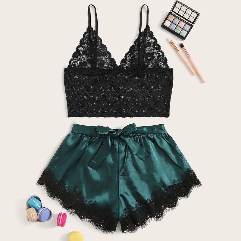 New Fashion Sexy Lace Lace Bra Set Bow Satin Sexy Lingerie NHYO204747