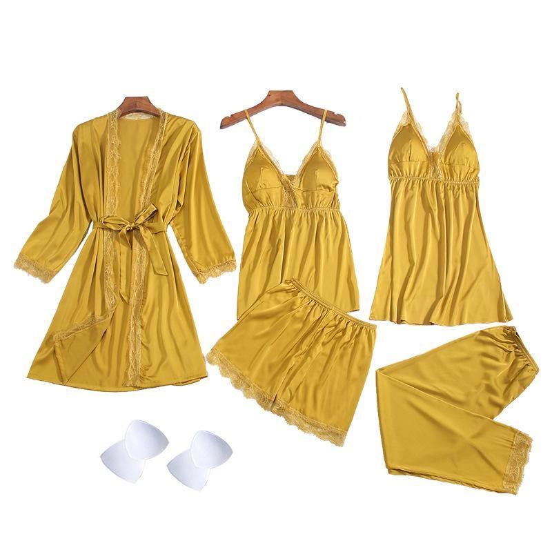 New fashion pajamas sexy five-piece strap pyjamas for women wholesale NHMR204762