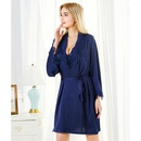 Embroidered lace sexy suspender robe twopiece suit ladies new open strap nightdress NHMR204766