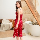 New fashion strap long sexy love silk pajamas wholesale NHMR204775