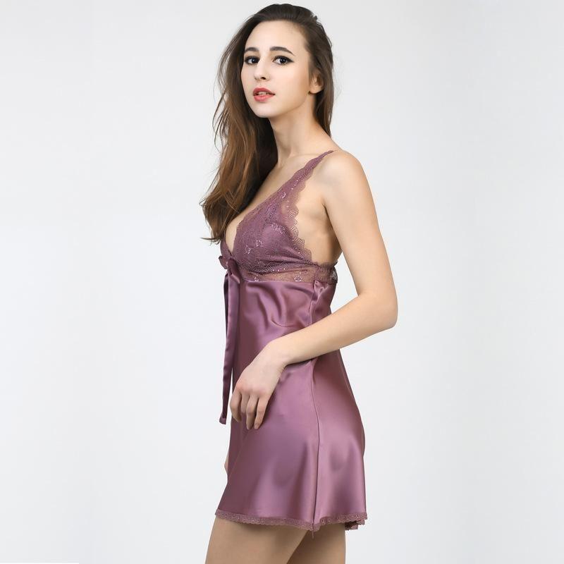 New fashion sexy simulation silk strap sexy nightdress for women wholesale NHMR204777