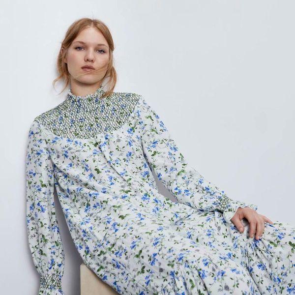 Wholesale Spring Printed Holiday Long Sleeve Dress wholesales yiwu  suppliers china NHAM204798