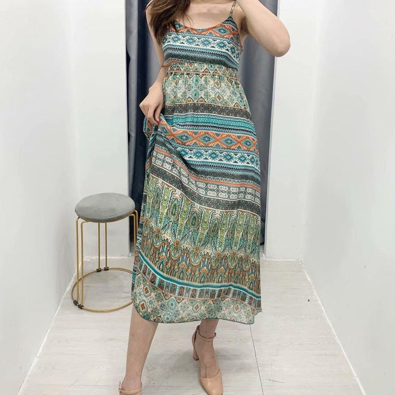 Wholesale spring printed camisole dress NHAM204809