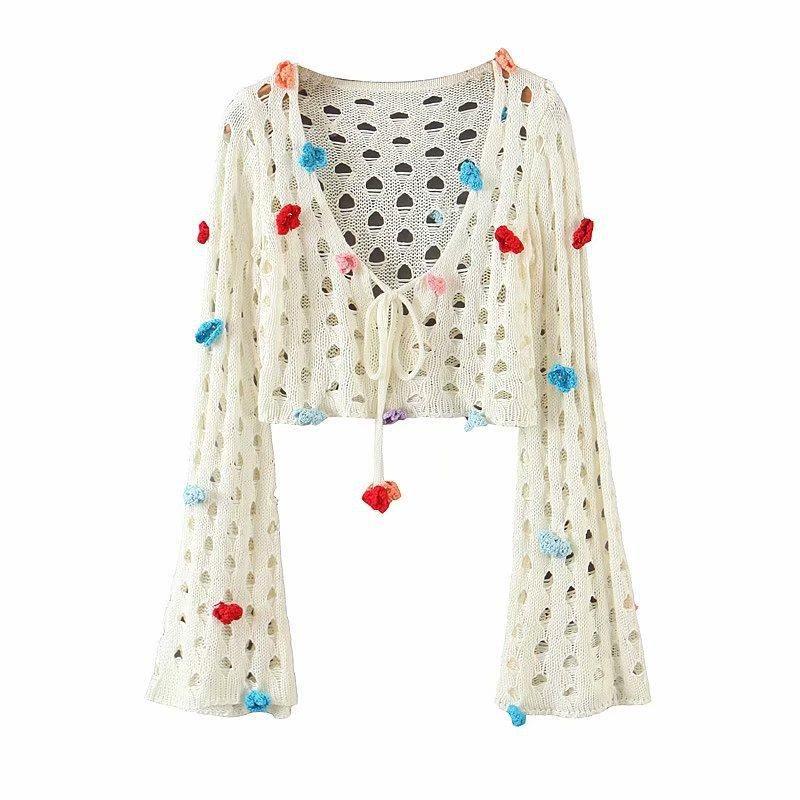 Wholesale new fashion wild openwork knitwear for women NHAM204810