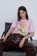 Wholesale New Spring Front Print Women39s Short Sleeve TShirt NHAM204826