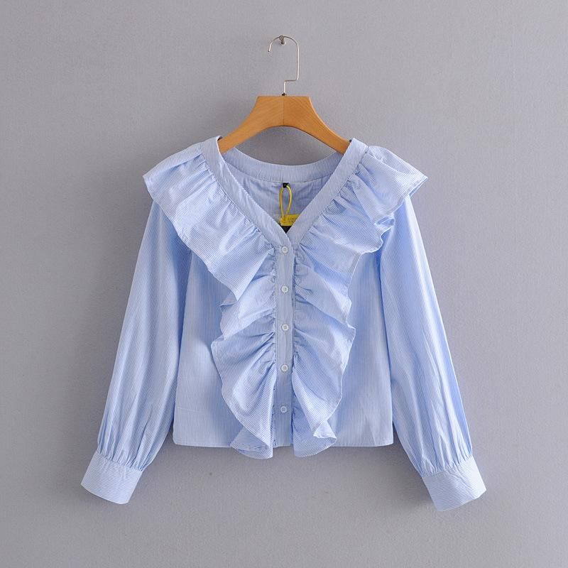 New Fashion Fungus Striped Thin Shirt Top Wholesale NHAM204830