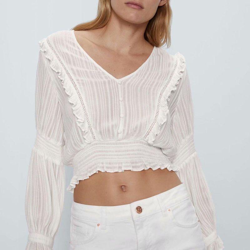 Wholesale Spring New Fashion Laminated Blouse NHAM204838