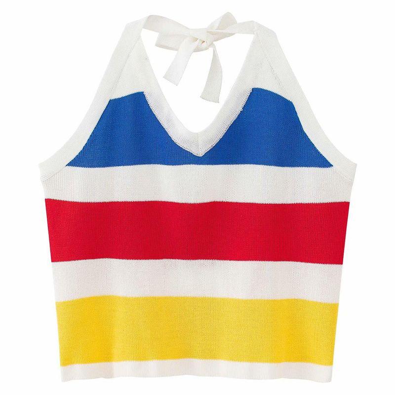 New Fashion Spring Halter Women's Knitted Small Vest for Women Wholesale NHAM204839