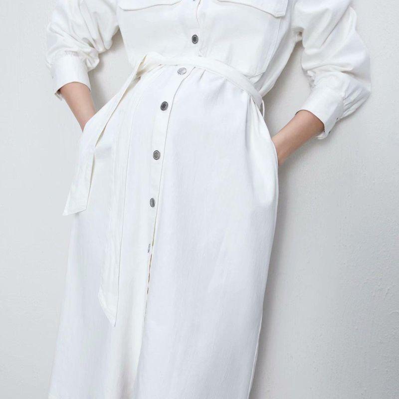 Midi Denim Long Sleeve Dress Wholesale yiwu  NHAM204851