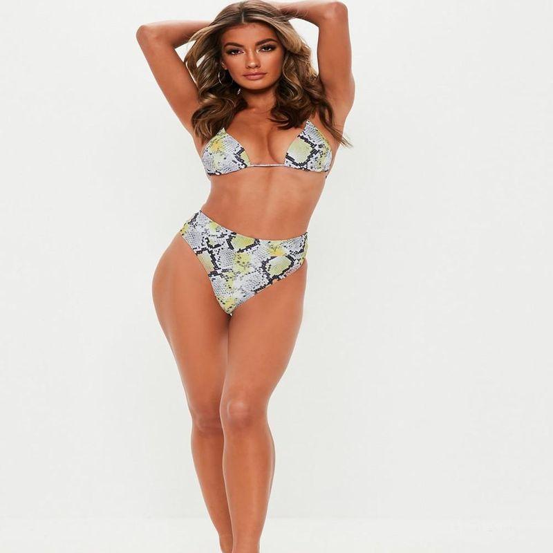 New Snakeskin Bikini Gather Sexy Tie Swimsuit Wholesale NHHL204914