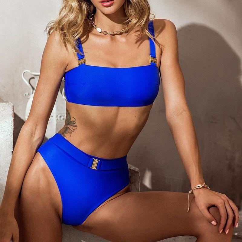 New fashion bikini split swimsuit high waist bikini for women wholesale NHHL204920