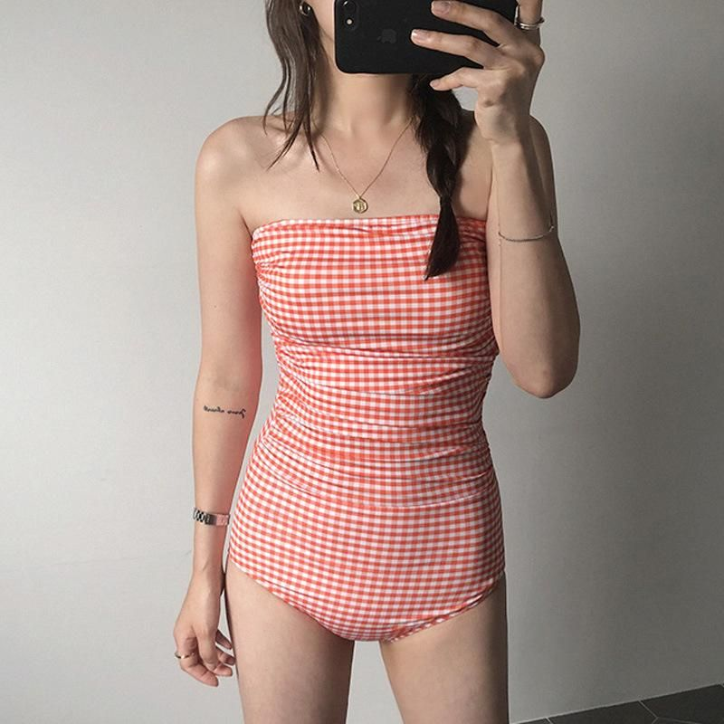 New one-piece triangle small chest cover belly hot spring swimsuit women NHHL204929