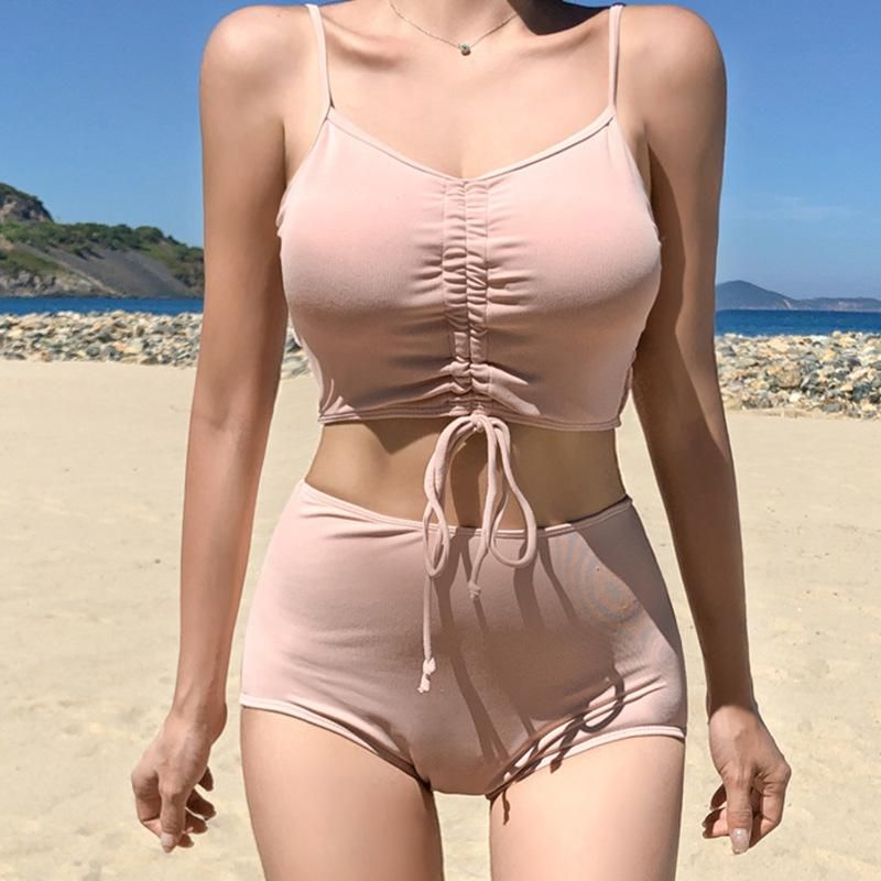 New Fashion Sexy Split High Waist Swimsuit NHHL204938