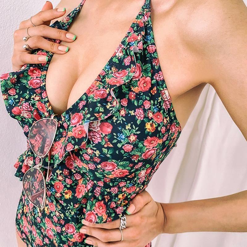 New fashion one-piece swimsuit women's swimwear wholesale NHHL204967